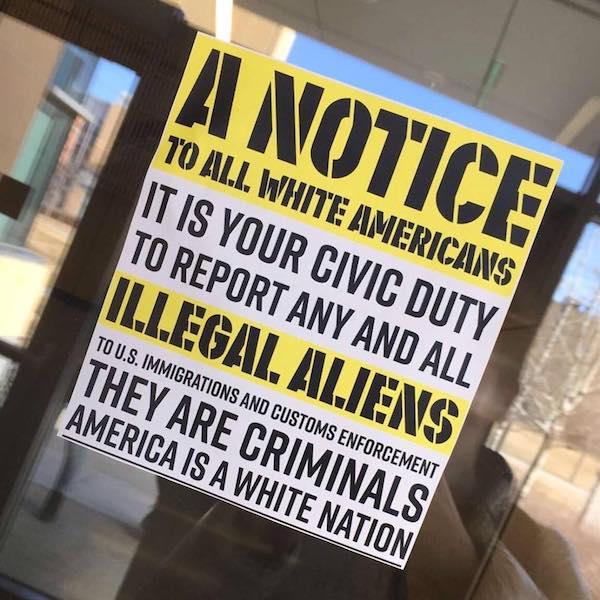 white america sign