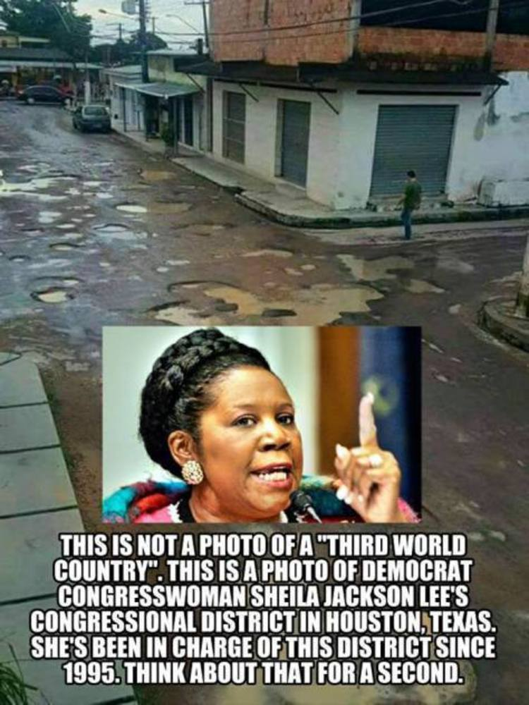 Sheila Jackson Lee Should Explain This Pic From Her District