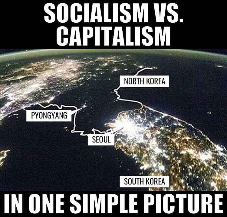 korea socialism vs capitalism