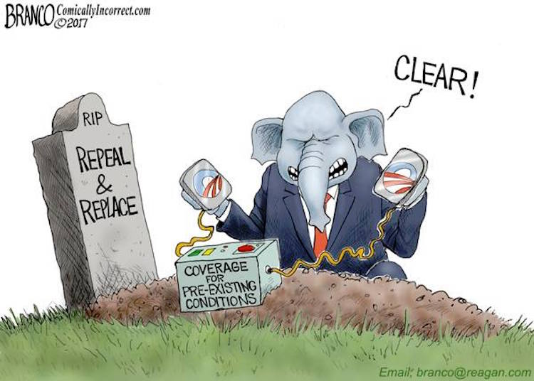 Image result for GOP OBAMACARE CARTOON