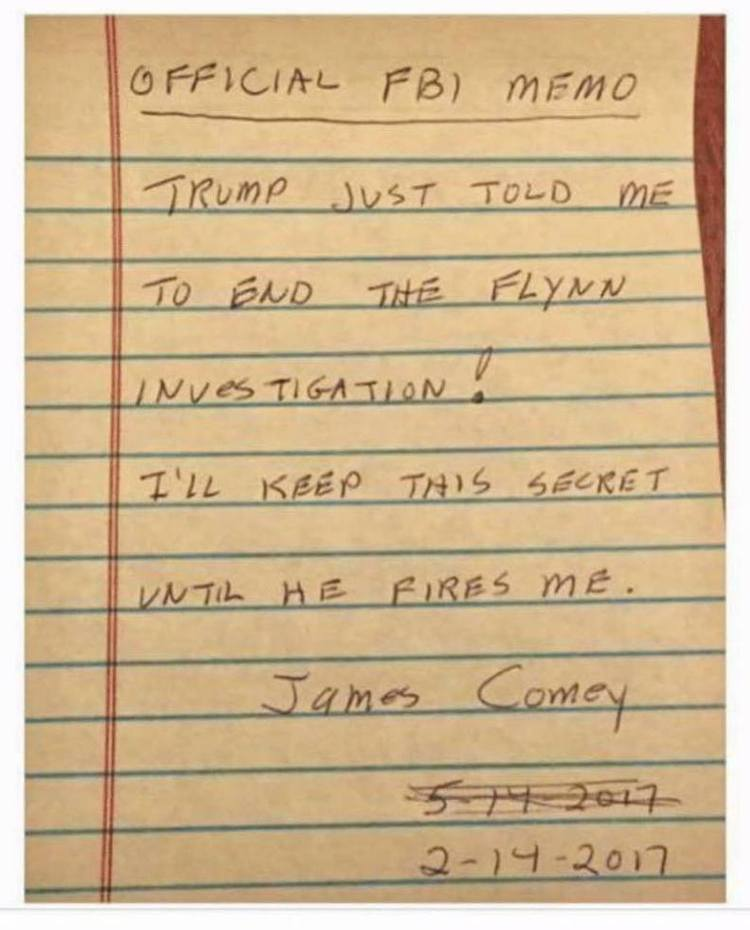 James Comey Releases Photo Of His Infamous 'Russia Memo'