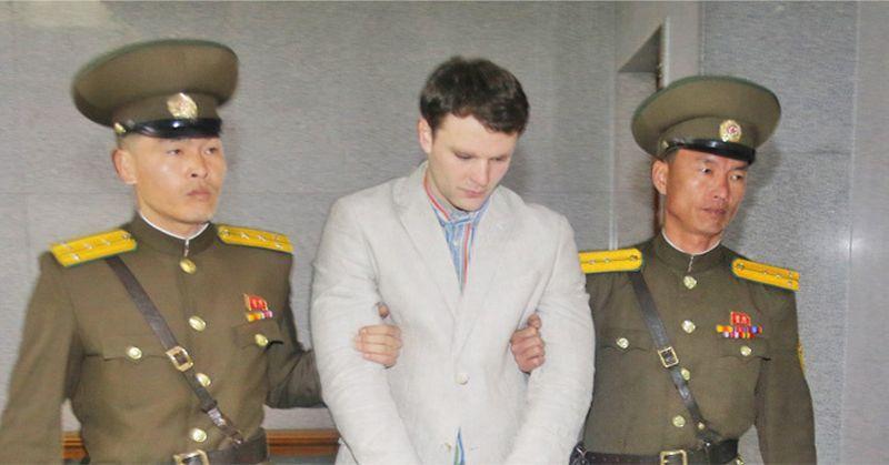 Otto Warmbier, while prisoner in North Korea