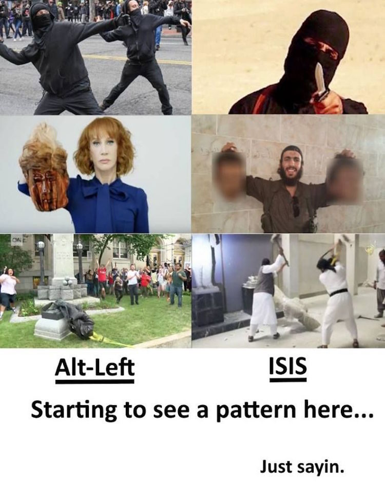 6 BRUTAL Pictures Reveal What Alt-Left and ISIS Have in Common