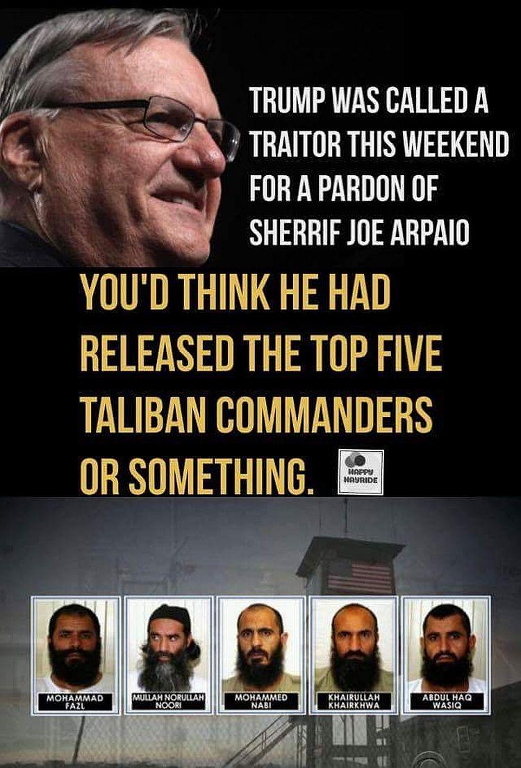 Trumps Pardon Of Sheriff Joe Put Into Real Perspective Meme