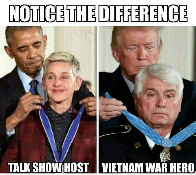 awards difference between obama vs trump brutally summed up by one meme
