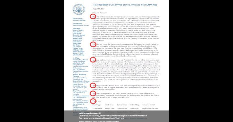 Resignation Letter Arts Humanities