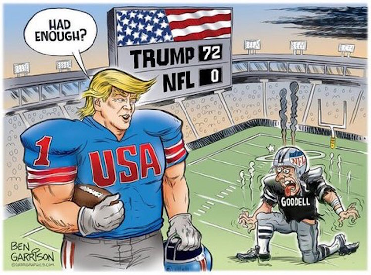 The Nfl Versus Trump Summed Up By One Cartoon