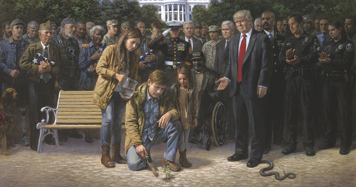 Famous Artist Unveils Powerful Painting Of Trump And Those