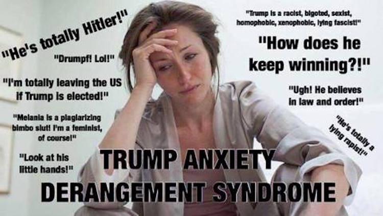 Hilarious Meme Explains Quot Trump Anxiety Derangement Syndrome Quot