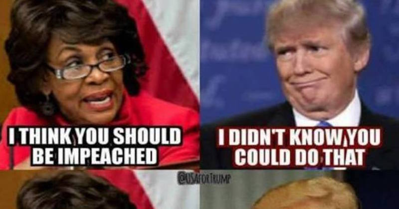 JOKE: Trump Says What We All Think About Crazy Maxine Waters