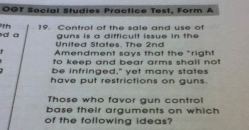Student's Brilliant Response To Gun Control Test Question Is HILARIOUS