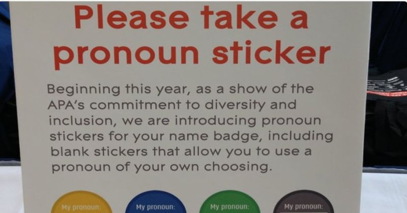 Sign Tells Students They Need To Wear These Stupid 'Pronoun