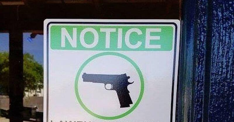 BRILLIANT: Restaurant's Sign Has Gun Control Supporters Up In Arms