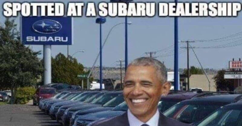 Joke: Why President Trump Forced Obama to go to a Subaru Dealer