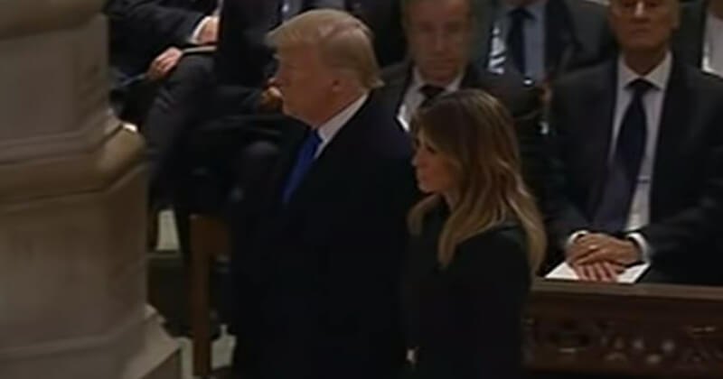 At Bush Funeral, Reporters Thought It Would Be Funny To Talk Trump Death - They Were Wrong...