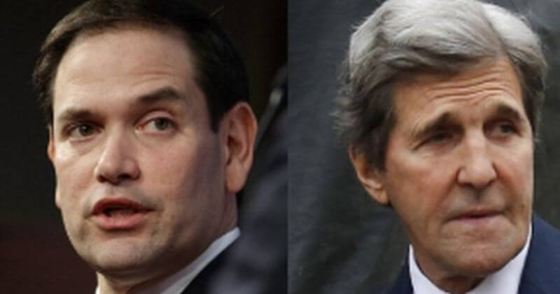 Rubio Calls For DOJ to Investigate Kerry For Iran Ties, Logan Act Violations