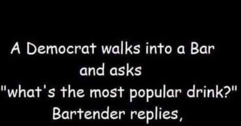 Hilarious Bar Joke Will Have Conservatives in Stitches and Turn Liberals Purple With Rage