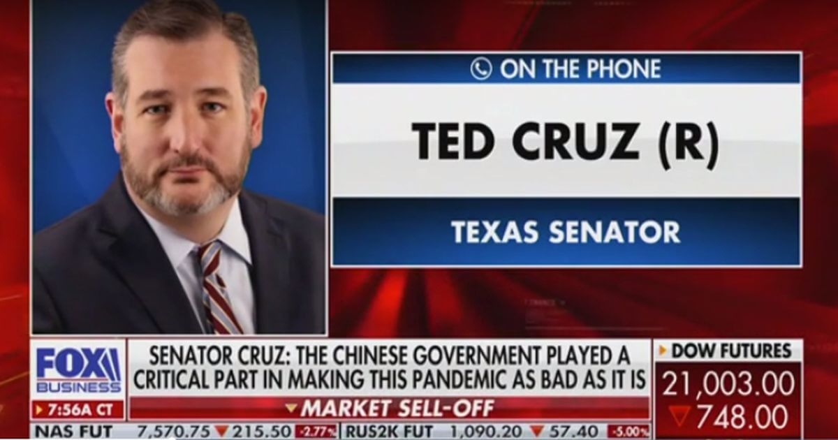 Cruz: 'Plausible' that Covid-19 Was Being Studied at Wuhan ...